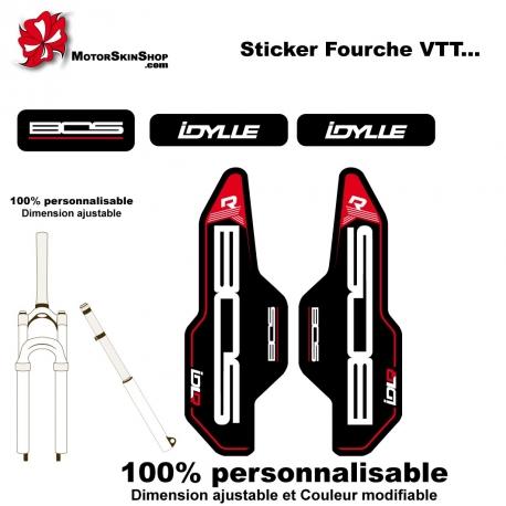 Sticker fourche vélo BOS Idylle