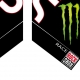 Sticker fourche Sid Monster Energy