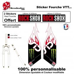 Sticker fourche Sid Rock Shox Flaming Monster
