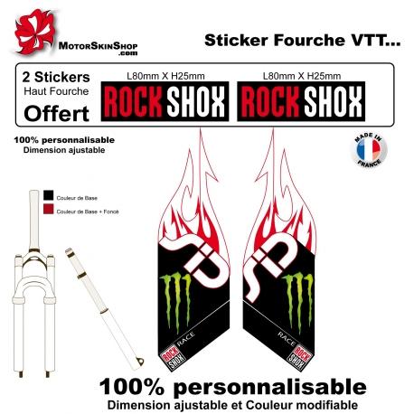 Sticker fourche Rock Shox Flaming Monster