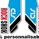 Sticker fourche Sid Rock Shox Forks Bleu 2013