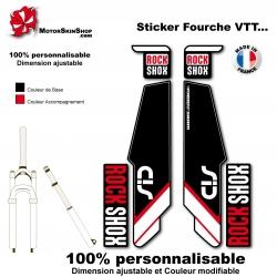 Sticker fourche Sid Rock Shox Forks Noir 2013