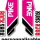 Sticker fourche Pike Rock Shox Rose 2013