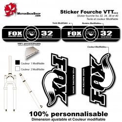 Sticker fourche FOX 32 34 36 40 Noir