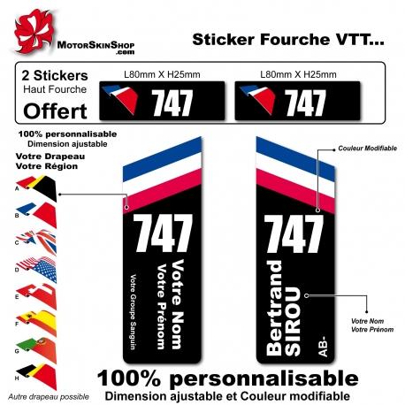 Sticker fourche vélo VTT Personnalisé