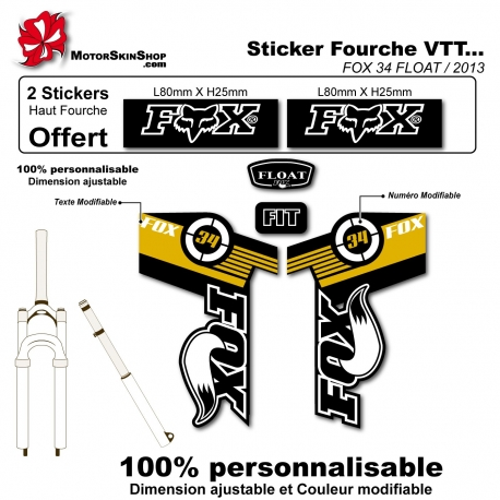 Sticker fourche FOX 34 FLOAT 2013