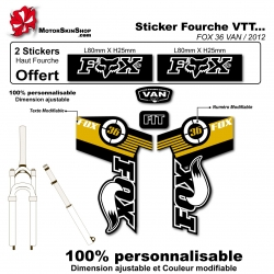 Sticker fourche FOX 36 VAN 2012
