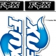 Sticker fourche FOX bleu ciel