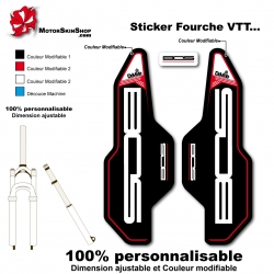 Sticker fourche Deville Bos 2014
