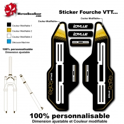 Sticker fourche Idylle Rare Air Bos 2014