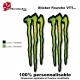Sticker fourche vélo Monster Energy