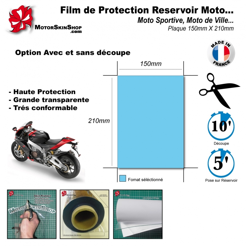 film de protection r servoir moto pais transparent tank pad. Black Bedroom Furniture Sets. Home Design Ideas