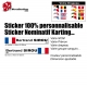 Sticker nominatif Pilote Karting personnalisable