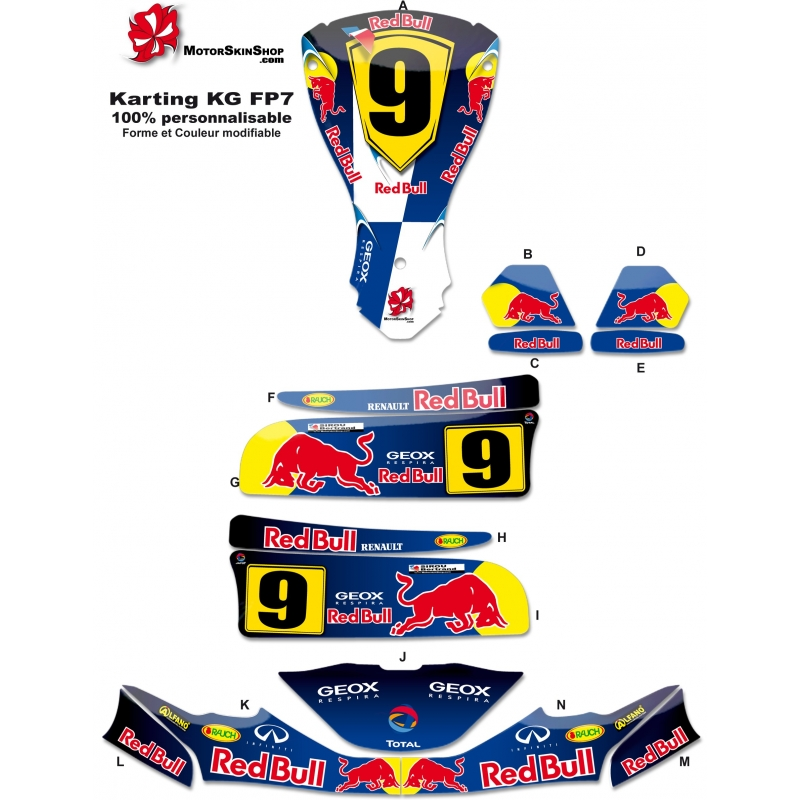 Kit d co karting kg fp7 f1 renault for Deco karting