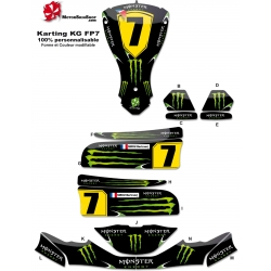 Kit déco Karting KG FP7 Monster Energy