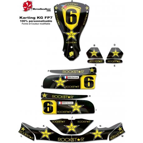 Kit déco Karting KG FP7 RockStar