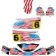 Kit déco Karting KG FP7 US Americain