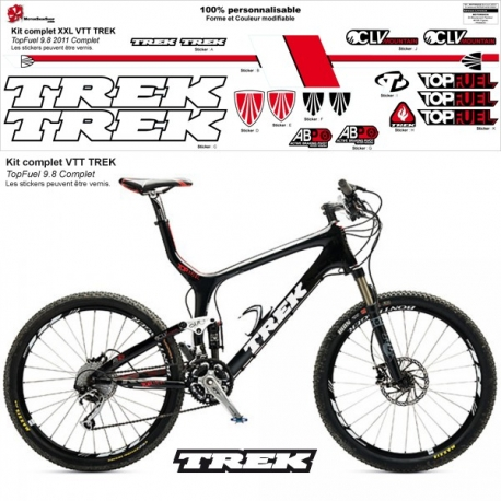 Sticker cadre Trek Top Fuel 9.8 XXl