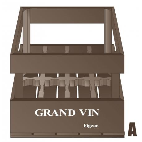 sticker caisse de vin vintage