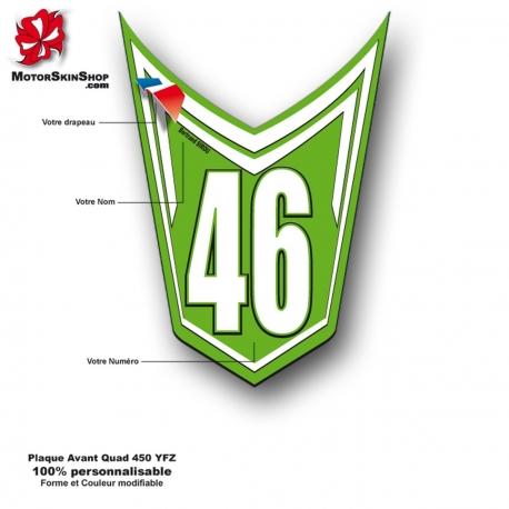 Plaque Numéro Avant YFZ Quad