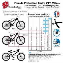 Film de Protection Cadre VTT Vélo à découper