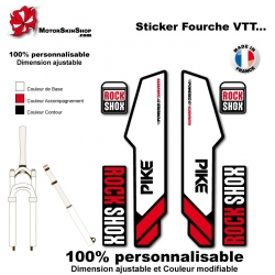 Sticker fourche Pike Rock Shox