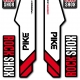 Sticker fourche Sid Rock Shox Forks Bleu 2013
