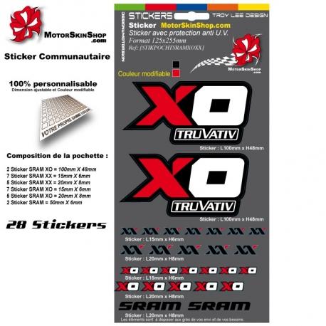 Planche Sticker Sram XO Sram XX