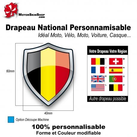 Sticker Drapeau national Belge