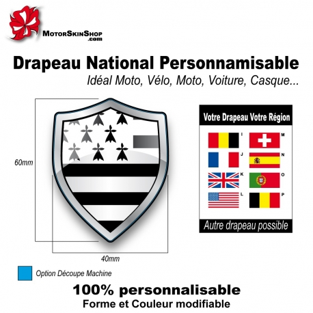 Sticker Drapeau Bretagne