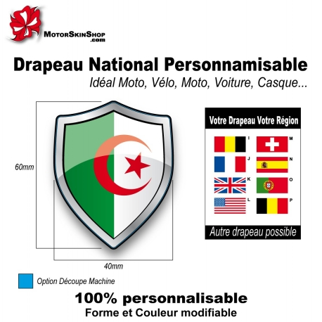 Sticker Drapeau national Algérie