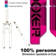 Sticker fourche Neon Boxxer Rose 2012 Factory