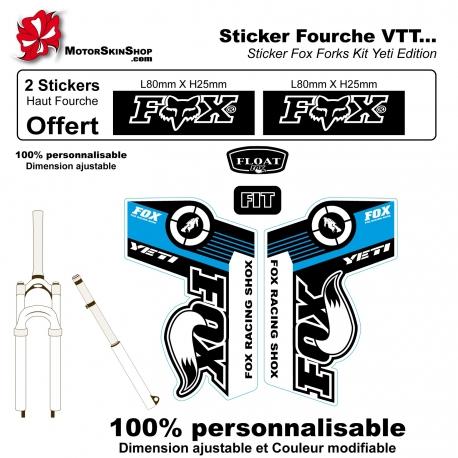 Sticker fourche Fox Forks Yeti Edition Bleu