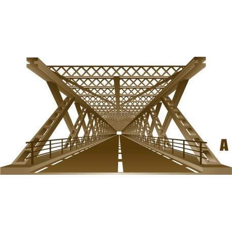 Décoration pont metallique 3D vecteur trompe l'œil