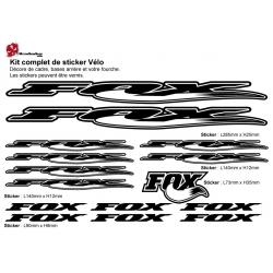 Sticker cadre Fox vélo