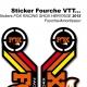 Sticker Fox Racing Shox Heritage 2015 Rouge