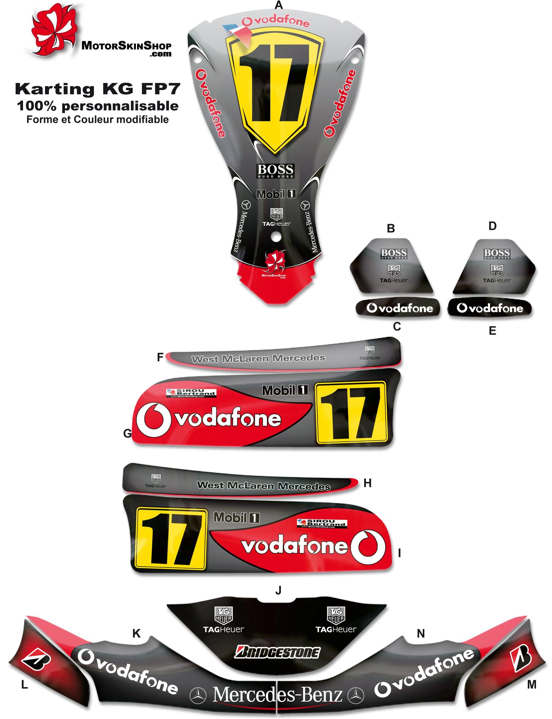 Kit déco Karting KG FP7 Mc Laren F1