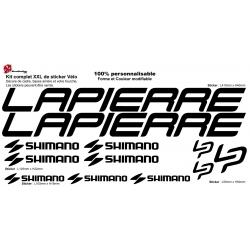 Sticker vélo Lapierre Shimano Campagnolo XXL