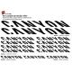 Sticker cadre Canyon Vélo