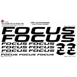 Sticker cadre Focus Vélo Taille XXl