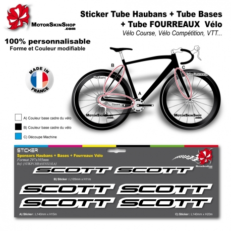 Planche Sticker Scott Hauban Base Fourreau