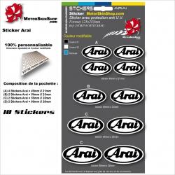 Planche Sticker Arai casque