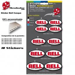 Planche Sticker Bell casque