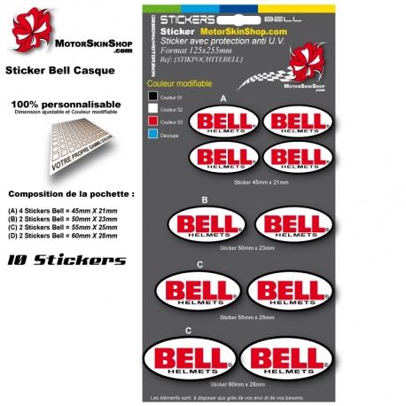 Planche Sticker casque Bell