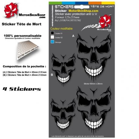 Planche Sticker Tete de Mort
