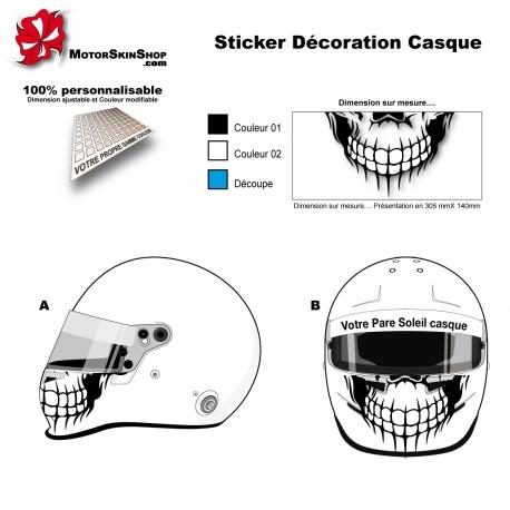 Sticker décoration casque Tete de Mort Skull