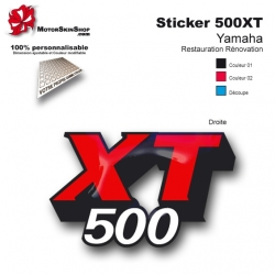 Sticker réservoir 500 XT Moto Yamaha origine