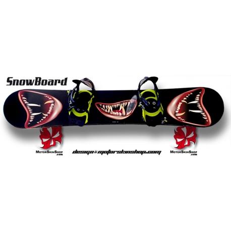 Sticker SnowBoard Sourire Monstre perso