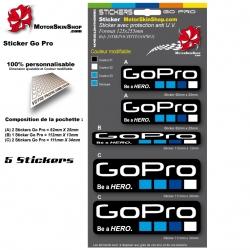Planche Sticker GoPro Casque