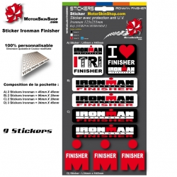 Planche Sticker Ironman Finisher casque